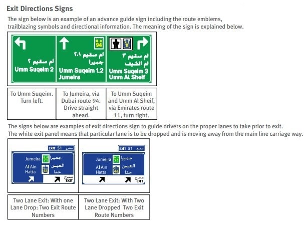 Exit Directions Signs